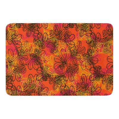 Jaipur Orange by Patternmuse Bath Mat Size: 17 W x 24 L