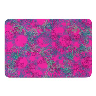 Jaipur Hot Pink by Patternmuse Bath Mat Size: 17 W x 24 L
