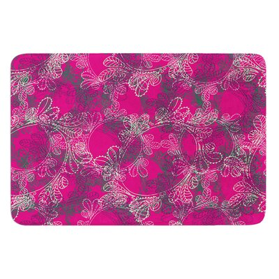 Jaipur Berry by Patternmuse Bath Mat Size: 17 W x 24 L