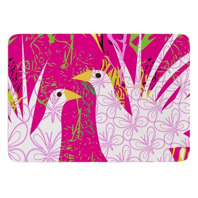 Fruit Birds by Patternmuse Bath Mat