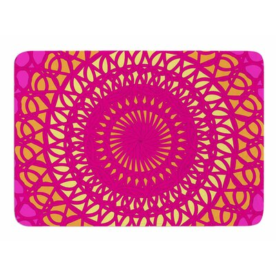 Radiant Pomegranate by Patternmuse Bath Mat