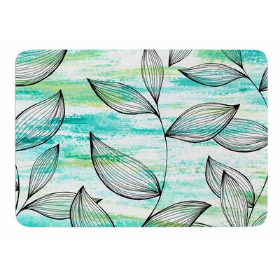 Tropical Leaf Garden by Jessica Wilde Bath Mat