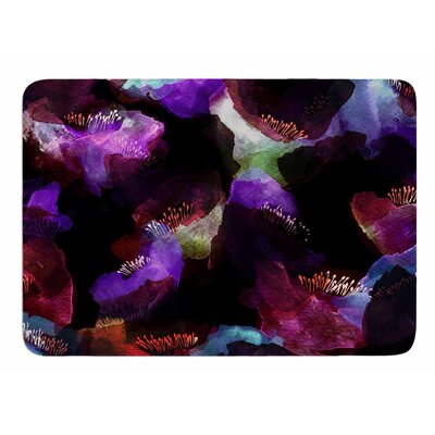 Watercolour Poppy by Jessica Wilde Bath Mat