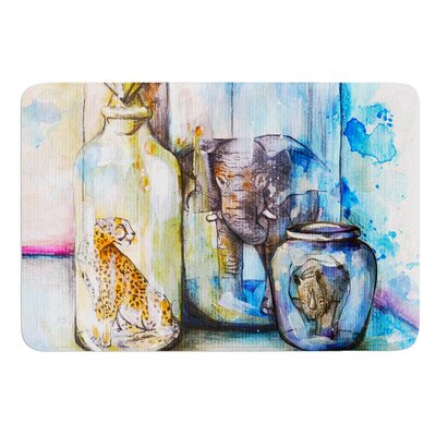 Bottled Animals by Kira Crees Bath Mat Size: 17 W x 24 L
