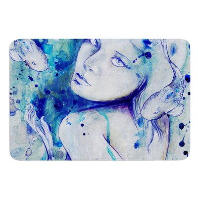 Koi Playing by Kira Crees Bath Mat Size: 24 W x 36 L