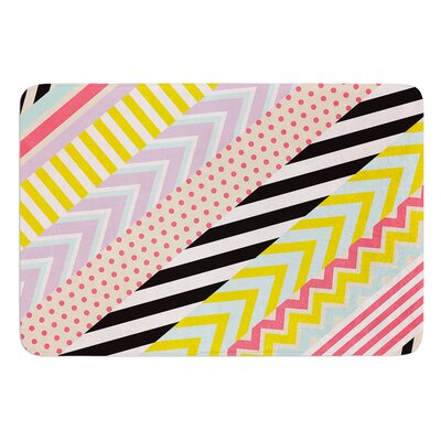 Diagonal Tape by Louise Machado Bath Mat