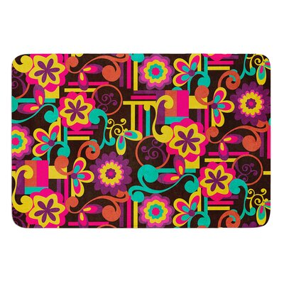 Arabesque Floral by Louise Machado Bath Mat