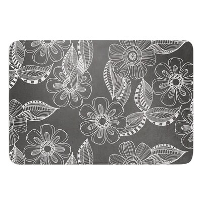 Floral Ink by Louise Machado Bath Mat