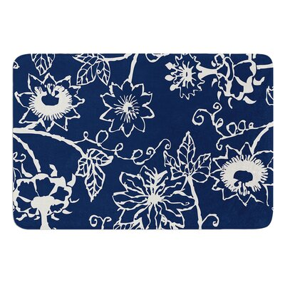 Passion Flower by Laura Nicholson Bath Mat