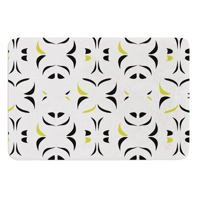 Retro Snow Storm by Miranda Mol Bath Mat