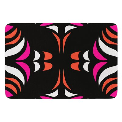 Magenta Hawaiian Retro by Miranda Mol Bath Mat