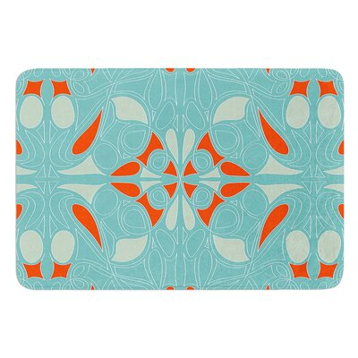 Seafoam and Orange by Miranda Mol Bath Mat