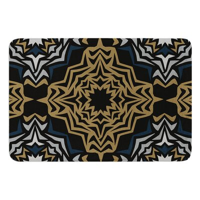Golden Fractals by Miranda Mol Bath Mat