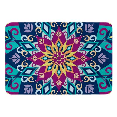 Blooming Mandala by Amanda Lane Bath Mat Size: 17W x 24L