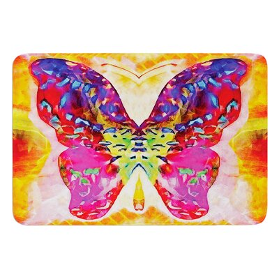 Butterfly Spirit by Anne LaBrie Bath Mat Size: 17W x 24L