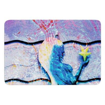 Mermaid Starlight by Anne LaBrie Bath Mat Size: 17W x 24L