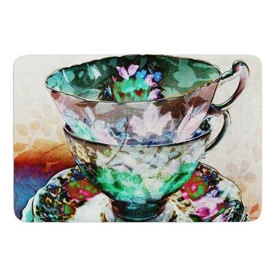 Mad Hatters T-Party III by alyZen Moonshadow Bath Mat Size: 17W x 24L