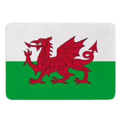Flag Of Wales - Authentic by Bruce Stanfield Bath Mat