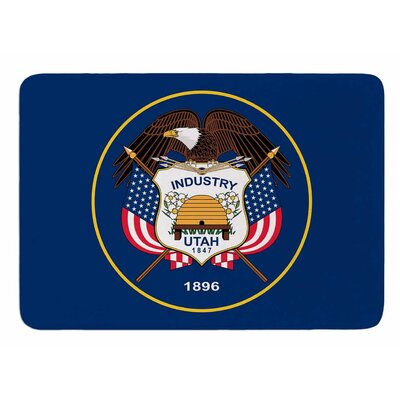 Utah State Flag Authentic by Bruce Stanfield Bath Mat