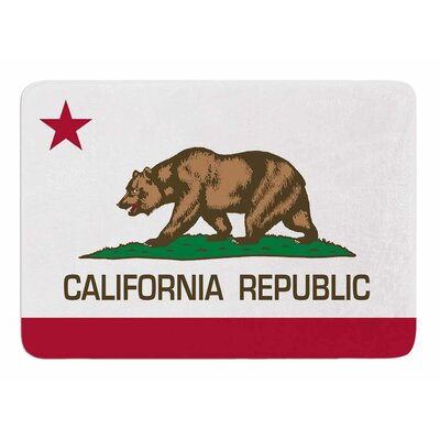 California State Flag by Bruce Stanfield Bath Mat