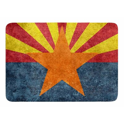 Arizona State Flag Retro Style by Bruce Stanfield Bath Mat