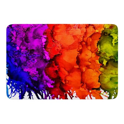 Rainbow Splatter by Claire Day Bath Mat Size: 17W x 24L