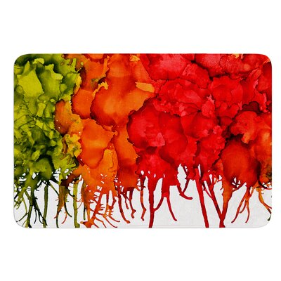 Fall Splatter by Claire Day Bath Mat Size: 17W x 24L