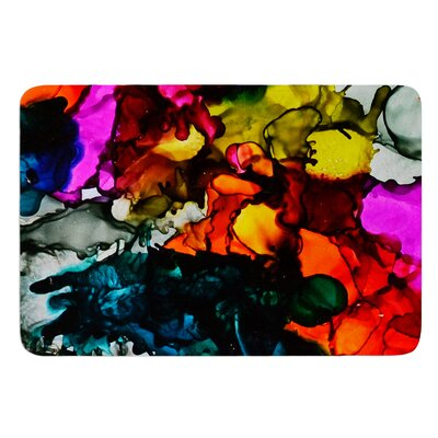 Hippie Love Child by Claire Day Bath Mat Size: 17W x 24L