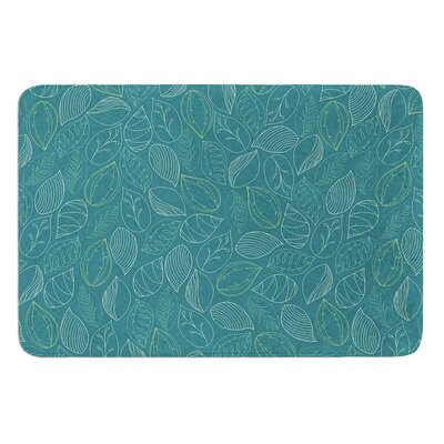 Autumn Leaves by Emma Frances Bath Mat Size: 17W x 24L