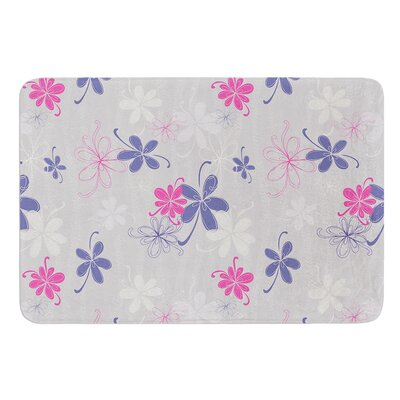 Lively Blossoms by Emma Frances Bath Mat Size: 17W x 24L