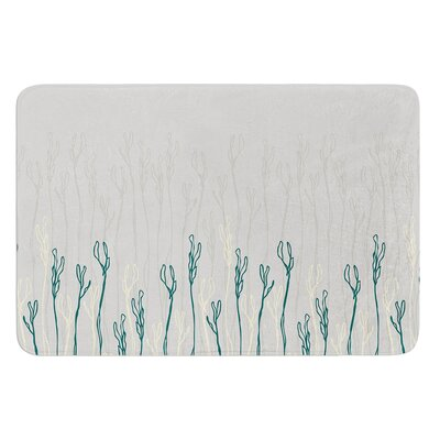Dainty Shoots by Emma Frances Bath Mat Size: 24 W x 36 L