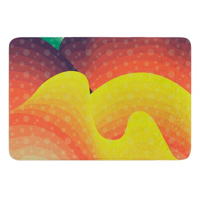 Waves Waves by Akwaflorell Bath Mat Size: 24 W x 36 L