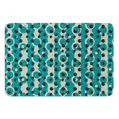 Bubbles Made of Paper by Akwaflorell Bath Mat Size: 24 W x 36 L
