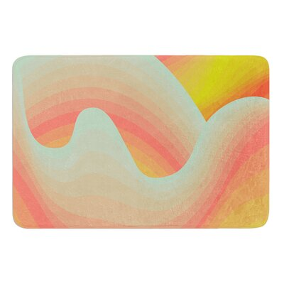 Way of the Waves by Akwaflorell Bath Mat Size: 24 W x 36 L
