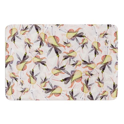 Fuchsia on the Wind by Akwaflorell Bath Mat Size: 17W x 24L