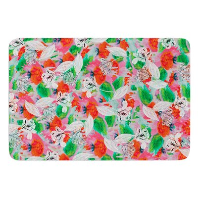 Flying Tulips by Akwaflorell Bath Mat Size: 17W x 24L