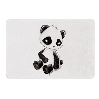 My Panda Sketch by Geordanna Cordero-Fields Bath Mat Size: 17W x 24L