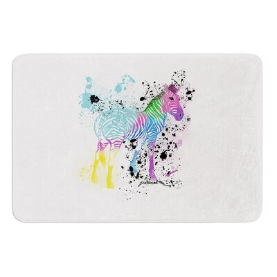 My Zebra by Geordanna Cordero-Fields Bath Mat Size: 17W x 24L