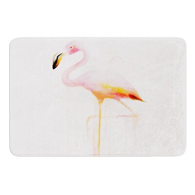 My Flamingo by Geordanna Cordero-Fields Bath Mat Size: 17W x 24L