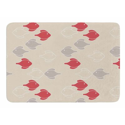Mayan Fish by Gukuuki Bath Mat