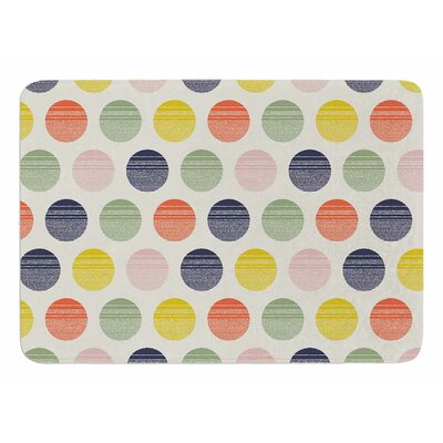 Rainbow Dots by Gukuuki Bath Mat