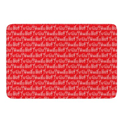 Glass Half-Full by Holly Helgeson Bath Mat Size: 17W x 24L