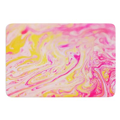Bubble Gum Pink by Ingrid Beddoes Bath Mat Size: 17w x 24L