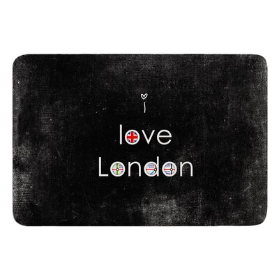I Love London by Ingrid Beddoes Bath Mat Size: 17w x 24L