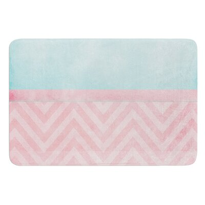 Light Chevron by Ingrid Beddoes Bath Mat Size: 24 W x 36 L