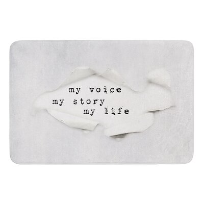 My Life by Ingrid Beddoes Bath Mat Size: 24 W x 36 L
