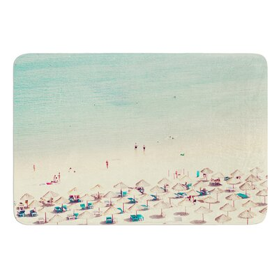 Happy Summer by Ingrid Beddoes Bath Mat Size: 24 W x 36 L