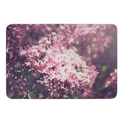 Lilacs by Jillian Audrey Bath Mat Size: 17w x 24L