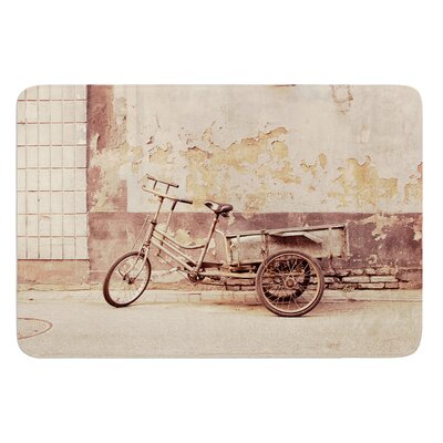 The Gray Bicycle by Jillian Audrey Bath Mat Size: 17w x 24L