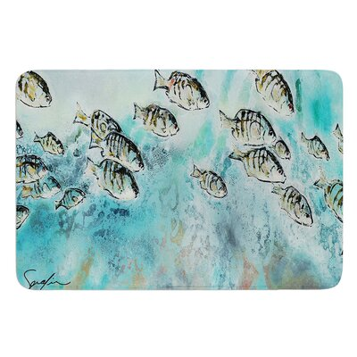 Perch Surfin by Josh Serafin Bath Mat Size: 24 W x 36 L